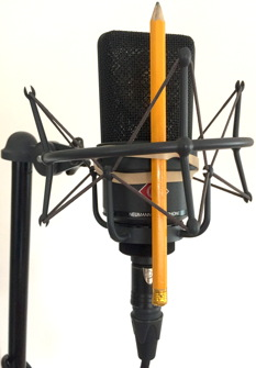 vocal mic potlood small